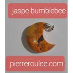 pendentif jaspe bumblebee lune