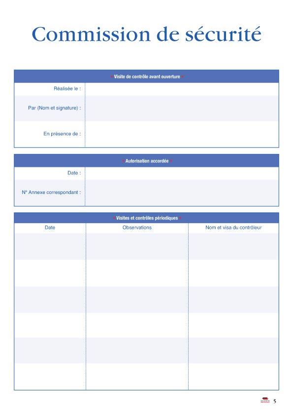 Registre De Securite Incendie Pour Erp Type L Documents Et