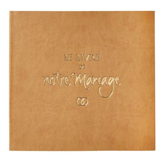 Le livre de notre mariage avec jaquette simili cuir for Le livre de mariage