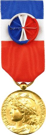 Medaille D Or 35 Ans D Honneur Du Travail Decoration Civile