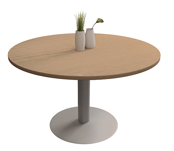 Table tonneau pieds tulipe bureau collectivites for Pied de table tulipe