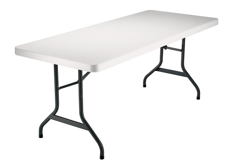 rectangle 183 pliante cm Longueur polyéthylène Table tQrdhs