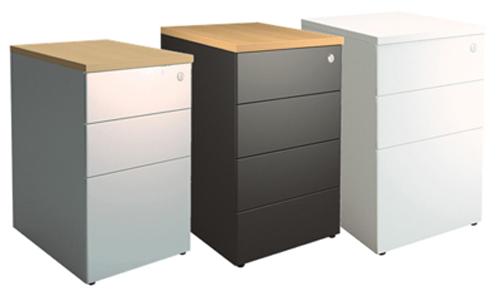 Caisson bureau métallique: bureau métallique avec caisson tiroirs