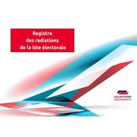 Registre des radiations de la liste électorale