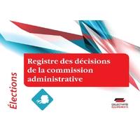 Registre des décisions de la commission administrative