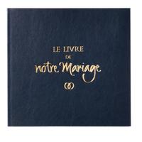 Le livre de notre mariage connecté - avec jaquette simili cuir