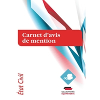 Carnet d'avis de mention