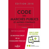 Code des Marchés Publics DALLOZ