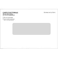 Enveloppes personnalisées pour cartes électorales