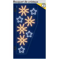 Décoration de Noël Bouquet de cristaux