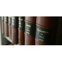 Reliure cuir de registre d'état-civil