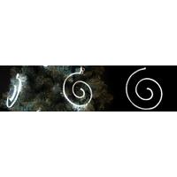 Suspension serpentin led blanc pur