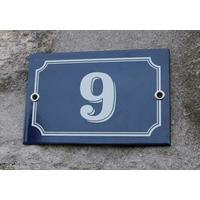 Plaque de numéro de maison classique