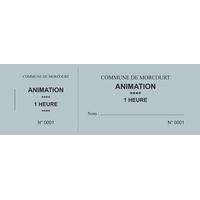 Carnet de 25 tickets personnalisés