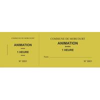 Carnet de 10 tickets personnalisés