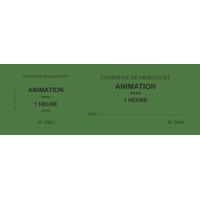 Carnet de 50 tickets personnalisés
