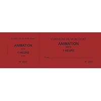 Carnet de 100 tickets personnalisés