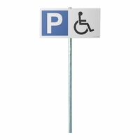 "Kit panneau de parking ""P symbole pmr"""
