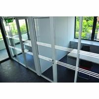 Bandes de signalisation pour surfaces vitrées 3 bandes blanches