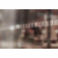 Bande de signalisation pour surfaces vitrées Carrés dépolis