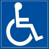 Panneau signalétique Personne à mobilité réduite