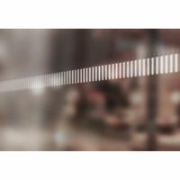 Bande de signalisation pour surfaces vitrées barres verticales