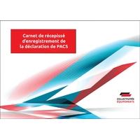 Carnet de récepissé d'enregistrement du PACS