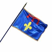 Drapeau Région ou Province 100 X 150 cm avec franges