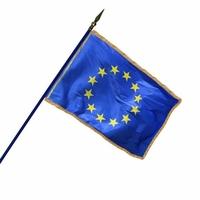 Drapeau européen 60 X 90 cm avec franges dorées