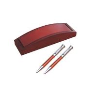 Parure de stylos Bois de rose personnalisée