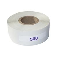 Rouleau de 500 étiquettes réactives pour prise d'empreintes
