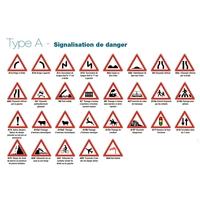 Panneaux de signalisation routière de danger type A en 500mm