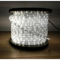 Cordon lumineux LED blanc chaud pétil. blanc 50m
