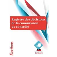 Registre des décisions de la Commission de Contrôle