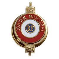 Insigne de boutonnière classique Conseiller Municipal