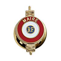 Insigne de boutonnière classique Maire