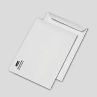 Pochettes B4 blanches 90 g personnalisées 1 couleur