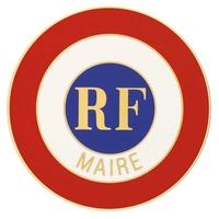 Cocarde adhésive - Maire