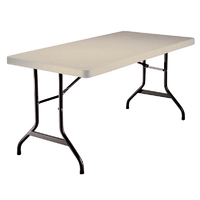 Table pliante rectangle polyéthylène - Longueur 152 cm