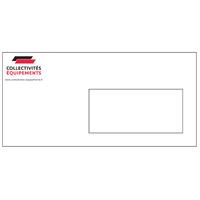 Enveloppes DL 100 g à fenêtre personnalisées en quadrichromie