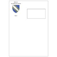 Pochettes C4 blanches 90 g à fenêtre personnalisées en quadrichromie