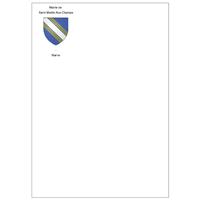 Pochettes C4 blanches 90 g personnalisées en quadrichromie