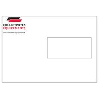 Enveloppes C5 blanches 90 g à fenêtre personnalisées en quadrichromie