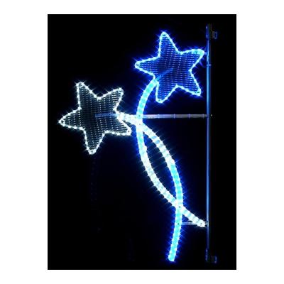 Illumination de noel croisée d'étoiles