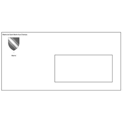 enveloppe dl à fenêtre 220X110 personnalisée