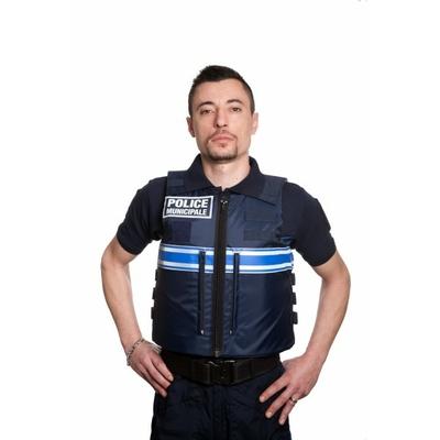 Gilet pare balles sporline Police Municipale modèle homme face