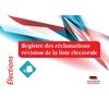 Registre des réclamations - liste électorale
