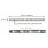 fil lumière led 50m balnc pur schema
