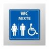 Panneau signalétique WC Mixte pour PMR