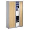 Armoire haute rideaux bois meuble bureau